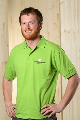 Hübscher Holzbau Mitarbeiter David Walter