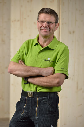 Hübscher Holzbau Mitarbeiter Norbert Beringer