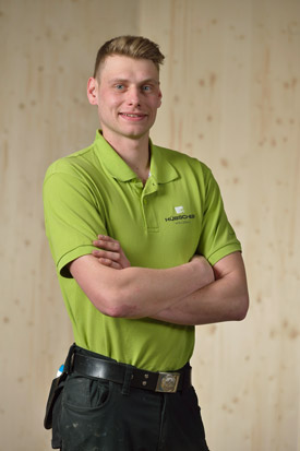 Hübscher Holzbau Mitarbeiter Sven Just